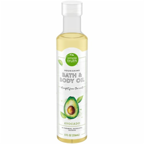 Simple Truth Avocado Body Oil Perspective: front