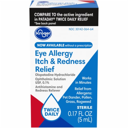 Kroger® Eye Allergy Itch and Redness Relief Drops Perspective: front