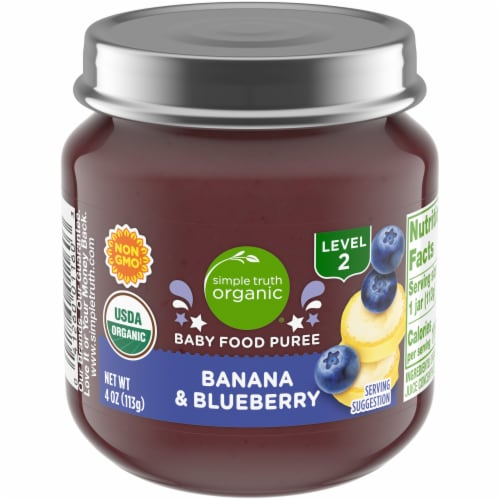Simple Truth Organic® Banana and Blueberry Baby Food Puree Perspective: front