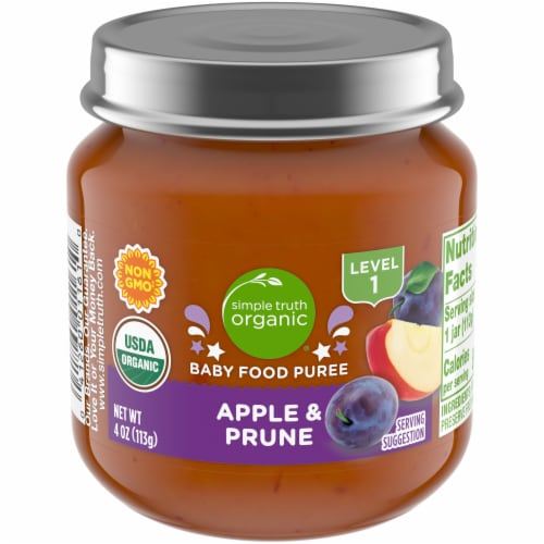 Simple Truth Organic® Apple and Prune Baby Food Puree Perspective: front