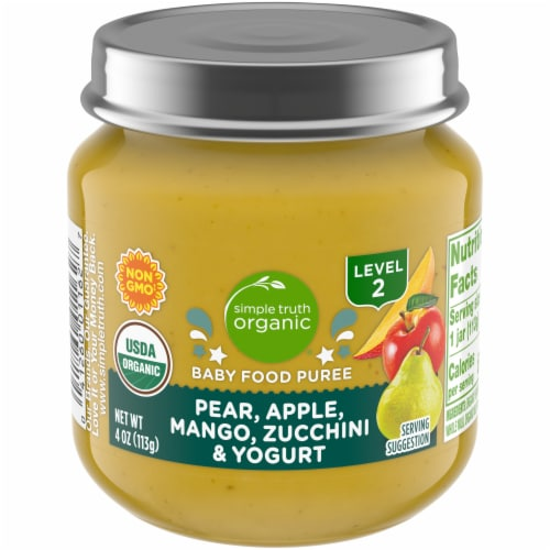 Simple Truth Organic® Mango Pear Apple Zucchini and Yogurt Baby Food Puree Perspective: front