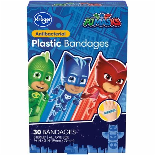 Kroger® PJ MASKS Antibacterial Kids Plastic Bandages Perspective: front