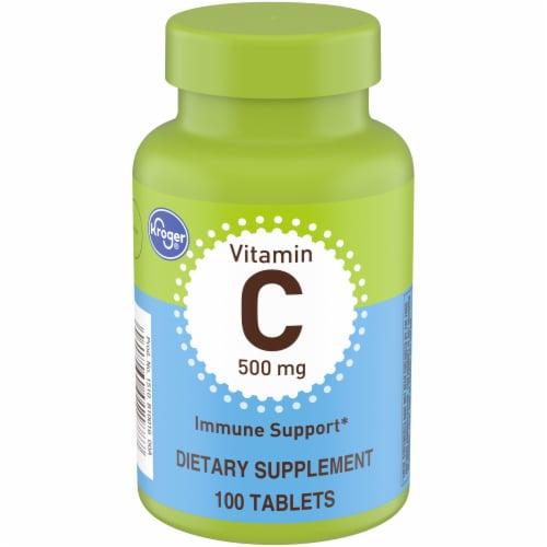 Kroger® Vitamin C Caplets 500mg Perspective: front