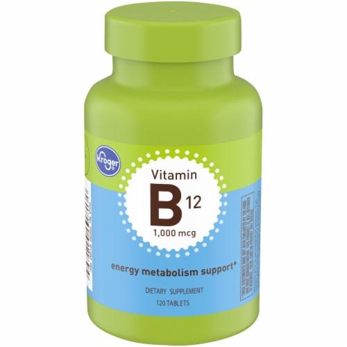 Kroger® Vitamin B12 1000mcg Tablets Perspective: front