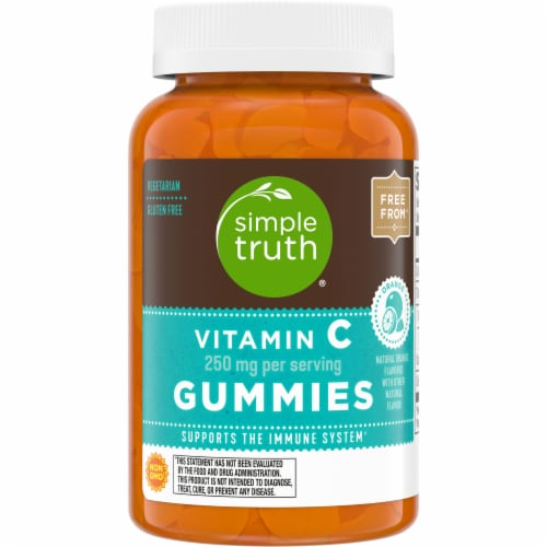 Simple Truth® Orange Flavored Vitamin C Gummies Perspective: front