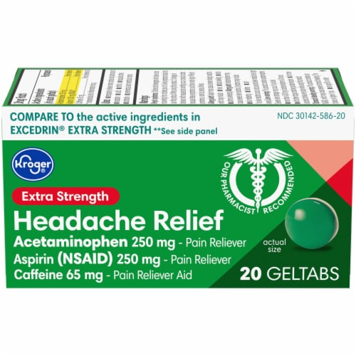 Kroger® Extra Strength Headache Relief Geltabs Perspective: front