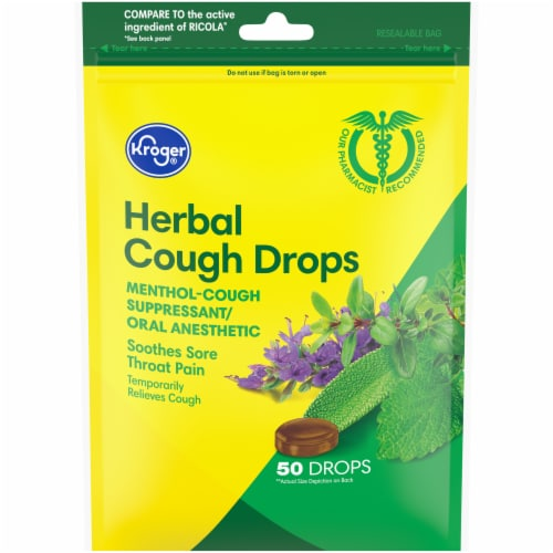 Kroger® Herbal Cough Drops Perspective: front