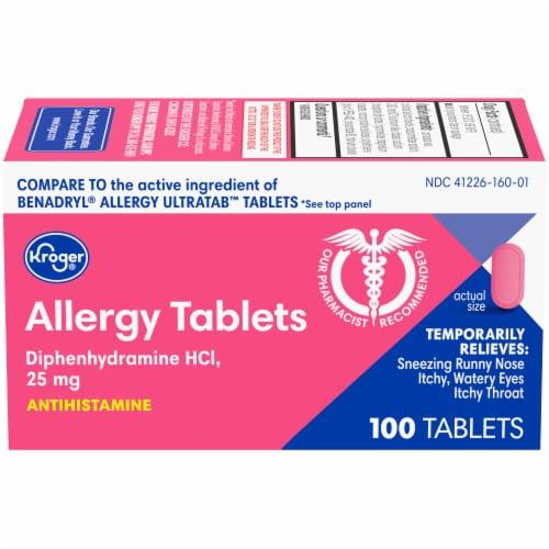 Kroger® Allergy Tablets 25 mg Perspective: front