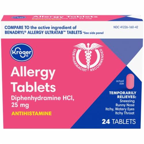 Kroger® Allergy Tablets 25mg Perspective: front
