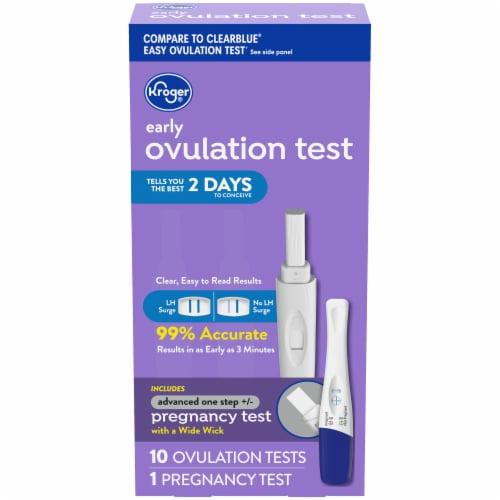 Kroger Ovulation Kit & Advanced Pregnancy Test Perspective: front