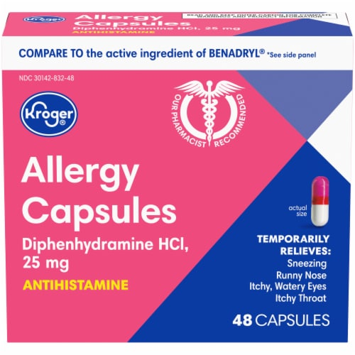 Kroger® Allergy Antihistamine Capsules Perspective: front