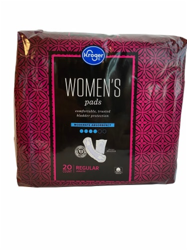 Kroger® Women's Moderate Absorbency Bladder Control Pads Perspective: front