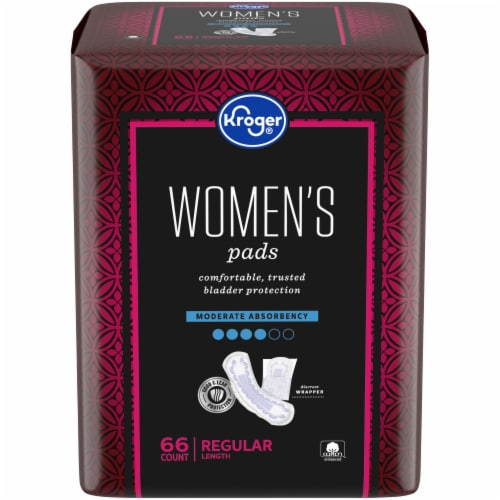 Kroger Women's Bladder Control Moderate Absorbency Pads Perspective: front