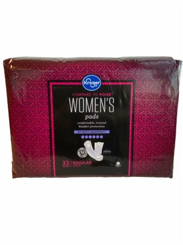 Kroger® Women's Ultimate Absorbency Bladder Control Regular Pads Perspective: front
