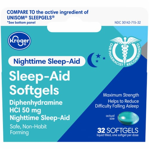 Kroger Sleep Aid Soft Gels Perspective: front