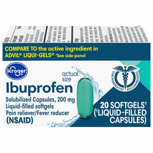 Kroger® Ibuprofen Softgels 200mg Perspective: front
