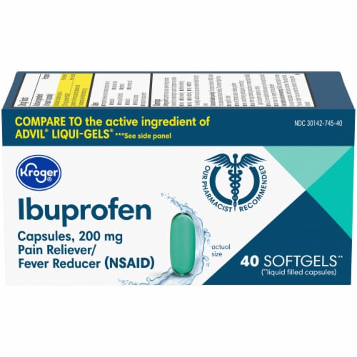 Kroger® Ibuprofen Capsules 200mg Perspective: front