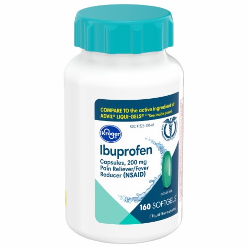 Kroger® Ibuprofen Softgel Capsules 200mg Perspective: front