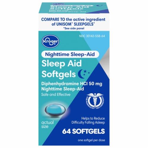 Kroger® Sleep Aid Softgels Perspective: front