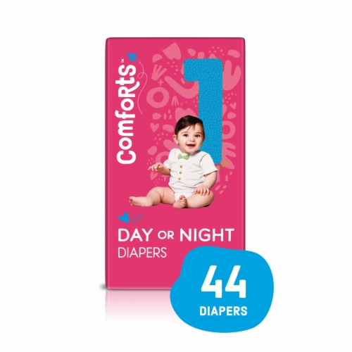 Comforts™ Size 1 Day or Night Diapers Perspective: front