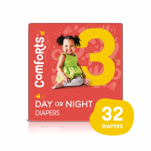 Comforts™ Size 3 Day or Night Diapers Perspective: front