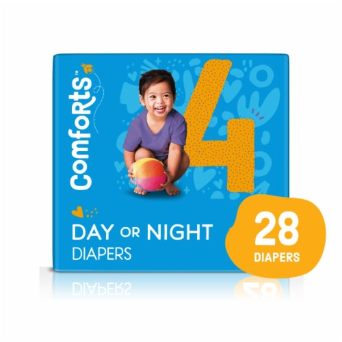 Comforts™ Size 4 Day or Night Diapers Perspective: front