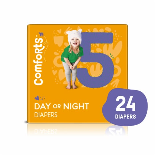 Comforts™ Size 5 Day or Night Diapers Perspective: front