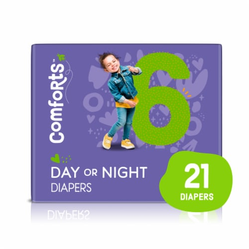 Comforts™ Size 6 Day or Night Diapers Perspective: front