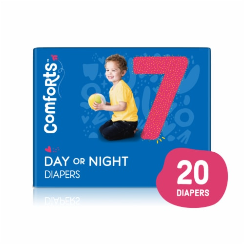 Comforts™ Size 7 Day or Night Diapers Perspective: front