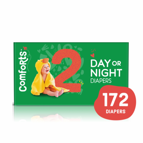 Comforts™ Size 2 Day or Night Diapers Super Value Box Perspective: front