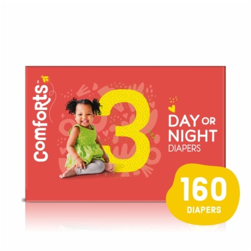 Comforts™ Size 3 Day or Night Diapers Super Value Box Perspective: front