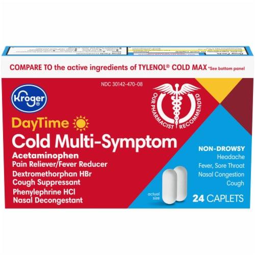 Kroger® Daytime Cold Multi-Symptom Relief Caplets Perspective: front