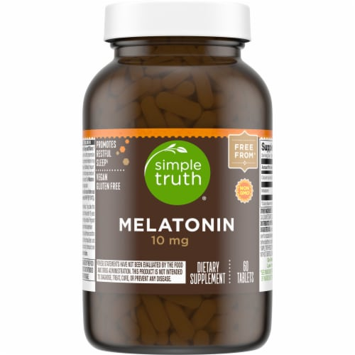 Simple Truth® 10 mg Melatonin Tablets Perspective: front
