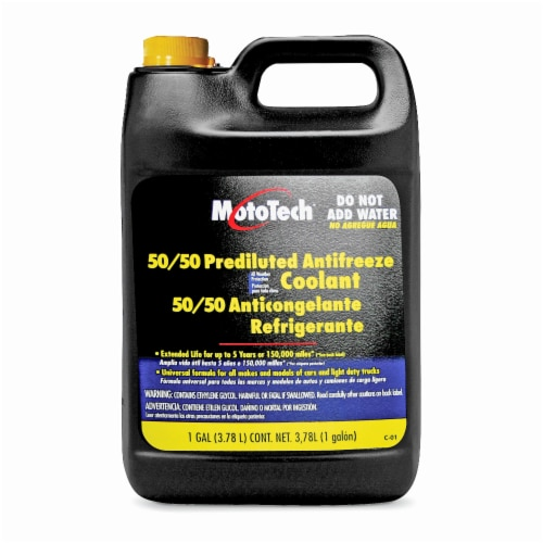 Moto Tech® 50/50 Prediluted Antifreeze Coolant Perspective: front