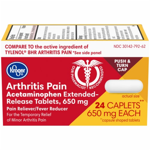 Kroger® Extended-Release Arthritis Pain Relief Caplets Perspective: front