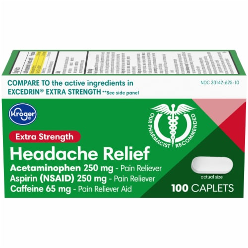 Kroger® Extra Strength Headache Relief Caplets Perspective: front