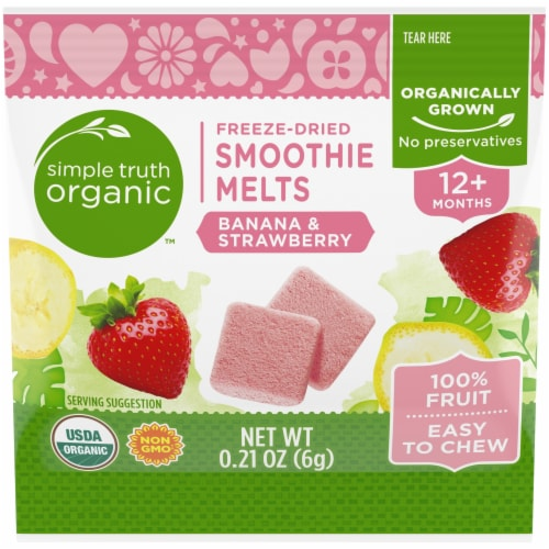 Simple Truth Organic™ Banana & Strawberry Freeze-Dried Smoothie Melts Perspective: front