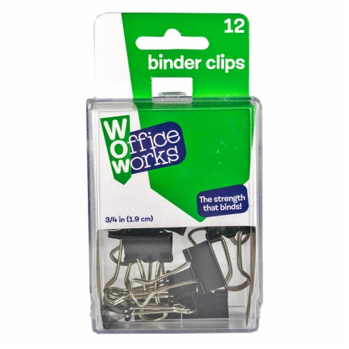 Office Works Binder Clips - Black Perspective: front