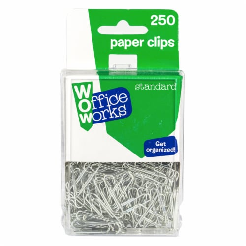 Office Works Standard Paper Clips - Silver Perspective: front