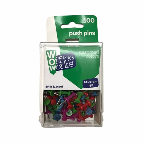 Office Works Push Pins - Assorted Perspective: front