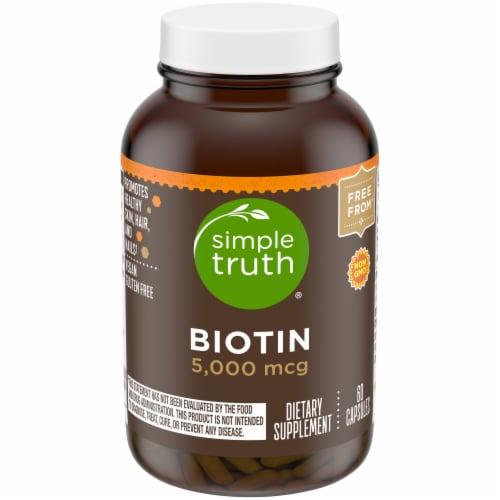 Simple Truth™ Biotin Capsules 5000mcg Perspective: front