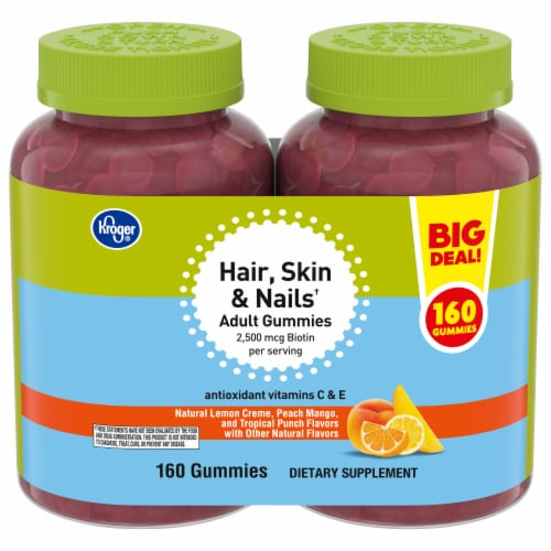 Kroger® Hair Skin & Nails Adult Gummies 160 Count Perspective: front