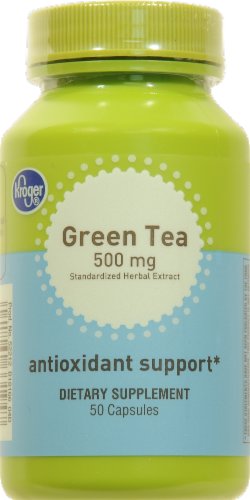 Kroger® Green Tea Antioxidant Support 500mg Capsules Perspective: front