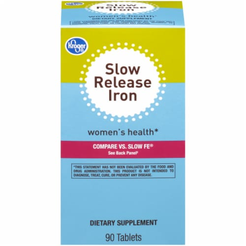 Kroger® Women's Health Slow Release Iron Tablets Perspective: front