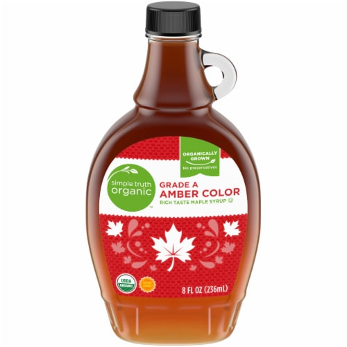 Simple Truth Organic™ Grade A Amber Color Maple Syrup Perspective: front