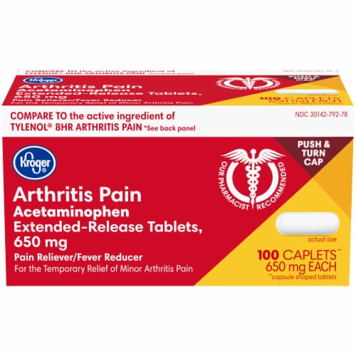 Kroger® Extended Release Arthritis Pain Relief Caplets Perspective: front