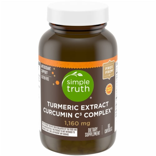 Simple Truth® 1160 mg Turmeric Extract Curcumin C3 Complex Capsules Perspective: front
