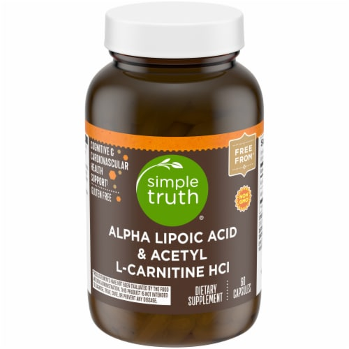 Simple Truth™ Alpha Lipoic Acid & Acetyl L-Carnitine HCI Capsules Perspective: front