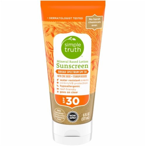 Simple Truth™ Mineral Based Sunscreen Lotion SPF 30 Perspective: front
