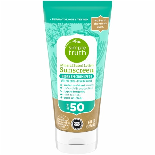 Simple Truth™ Mineral Based Lotion Sunscreen SPF 50 Perspective: front